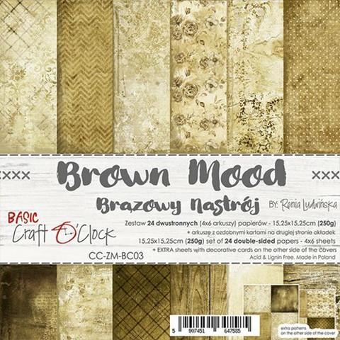 Craft O'clock paperipakkaus Brown Mood