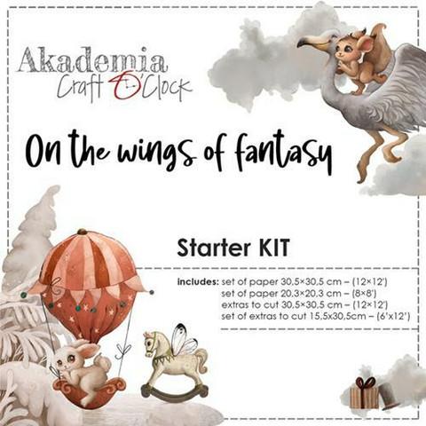 Craft O'clock Workshop Kit On The Wings Of Fantasy -paperipakkaus
