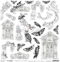 Craft O'clock skräppipaperi Mixed Media Extras To Cut Antique