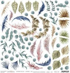 Craft O'clock skräppipaperi Extras To Cut Leaves XIV