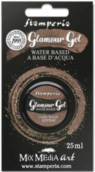Stamperia Glamour Glitter Gel, sävy Dark Wood