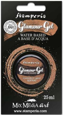 Stamperia Glamour Glitter Gel, sävy Chestnut Light