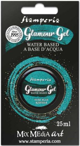 Stamperia Glamour Glitter Gel, sävy Star Blue