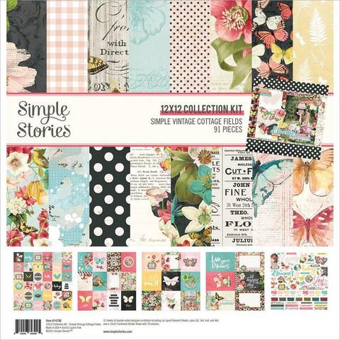 Simple Stories Simple Vintage Cottage Fields -paperipakkaus, 12