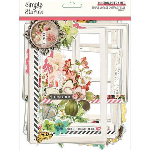 Simple Stories Simple Vintage Cottage Fields Chipboard Frames -kehykset