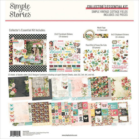 Simple Stories Simple Vintage Cottage Fields Collector's Essential Kit