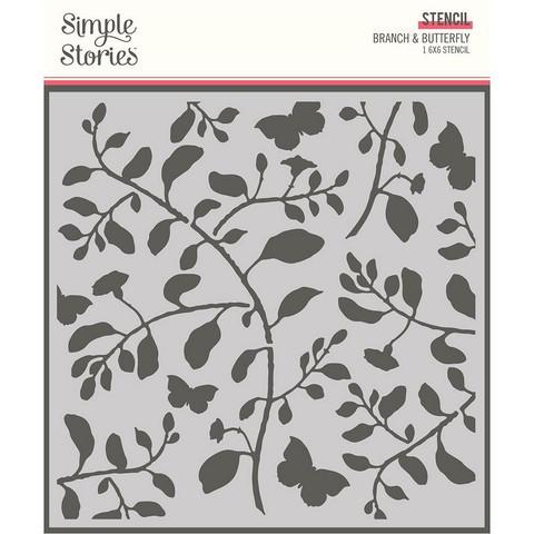 Simple Stories sapluuna Branch & Butterfly