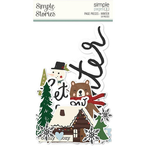 Simple Stories Simple Pages Page Pieces -leikekuvat, Winter