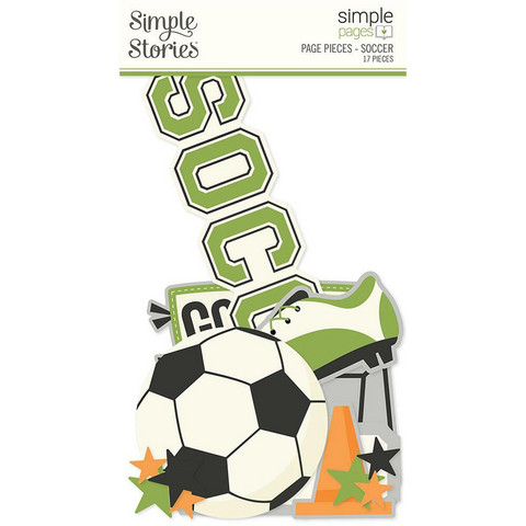 Simple Stories Simple Pages Page Pieces -leikekuvat, Soccer