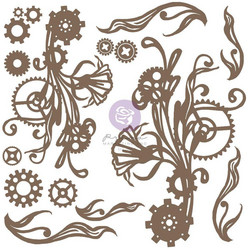 Prima Decorative Chipboard kuvioleike, Mechanical Flourishes