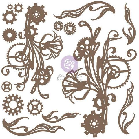 Prima Decorative Chipboard kuvioleike, Mechanical Flourishes