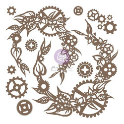 Prima Decorative Chipboard kuvioleike, Steampunk Wreath