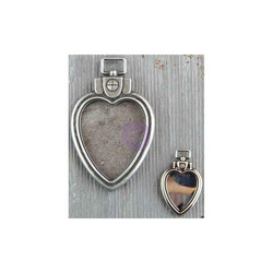 Finnabair Mechanicals -metallikoristeet Heart Locket Pendants