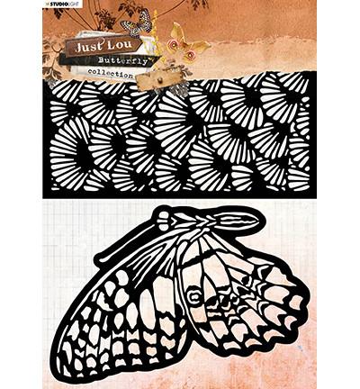 Studio Light Just Lou Butterfly Collection -sapluunasetti