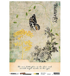 Studio Light riisipaperi Just Lou Butterfly Collection 21