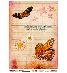 Studio Light riisipaperi Just Lou Butterfly Collection 22