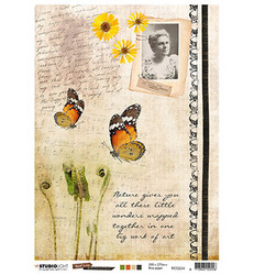 Studio Light riisipaperi Just Lou Butterfly Collection 24