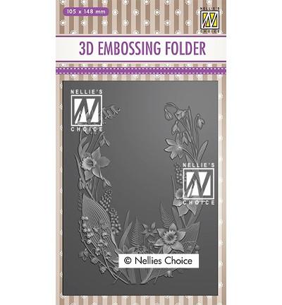 Nellie's Choice 3D kohokuviointikansio Flower Frame