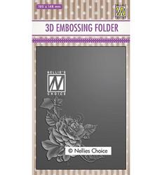 Nellie's Choice 3D kohokuviointikansio Rose Corner 2