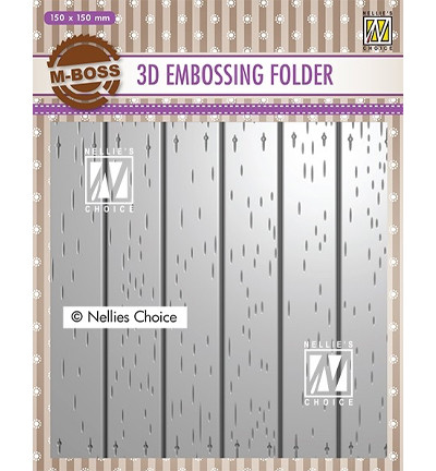 Nellie's Choice 3D kohokuviointikansio Stripe Pattern 2