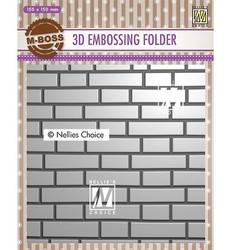 Nellie's Choice 3D kohokuviointikansio Brick Wall