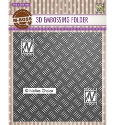 Nellie's Choice 3D kohokuviointikansio Stripe Pattern 1