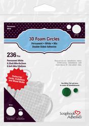 Scrapbook Adhesives 3D-tarratyynyt, Circles Mix