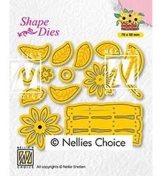 Nellie's Choice stanssi Build-up dies: flower basket
