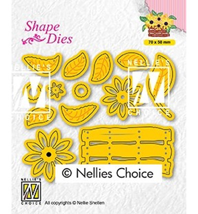 Nellie's Choice stanssi Build-up dies: flower basket