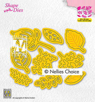 Nellie's Choice stanssi Set of Leaves