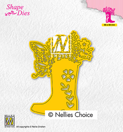 Nellie's Choice stanssi Boot with flowers