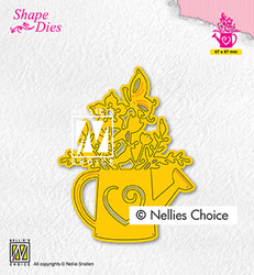 Nellie's Choice stanssi Wateringcan with flowers