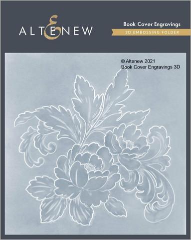 Altenew 3D kohokuviointikansio Book Cover Engravings