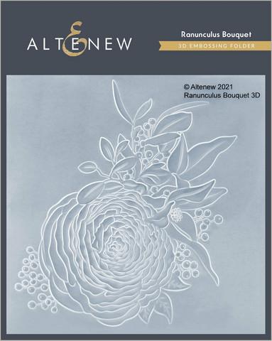 Altenew 3D kohokuviointikansio Ranunculus Bouquet