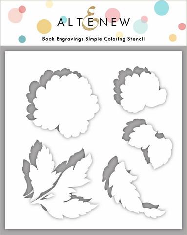 Altenew Book Engravings Simple Coloring -sapluuna