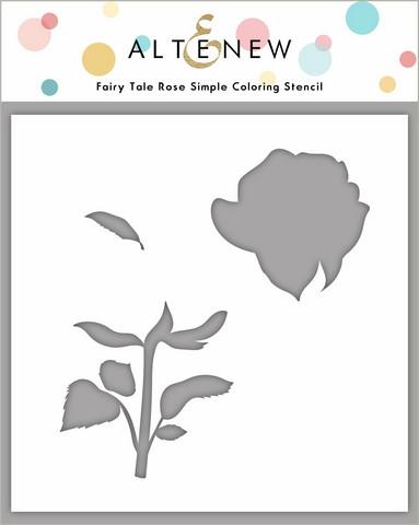 Altenew Fairy Tale Rose Simple Coloring Stencil -sapluuna