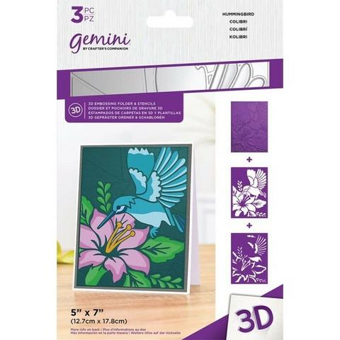 Gemini 3D kohokuviointikansio ja sapluuna Humming Bird