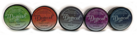 Lindy's Stamp Gang Shimmer Magicals -jauheet, Haunted Halloween