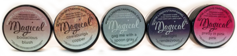 Lindy's Stamp Gang Shimmer Magicals -jauheet, Totally 80's