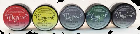 Lindy's Stamp Gang Shimmer Magicals -jauheet, Jingle Bells