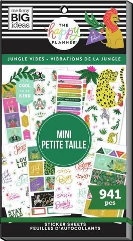 Mambi Happy Planner Value Pack -tarrapakkaus Jungle Vibes, MINI