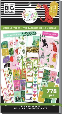 Mambi Happy Planner Value Pack -tarrapakkaus Jungle Vibes