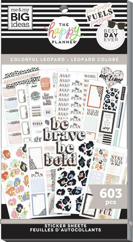 Mambi Happy Planner Value Pack -tarrapakkaus Colorful Leopard