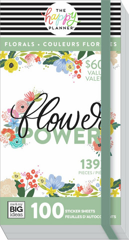 Mambi Happy Planner Mega Value -tarrapakkaus Florals