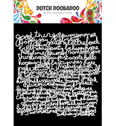 Dutch Doobadoo Text -sapluuna