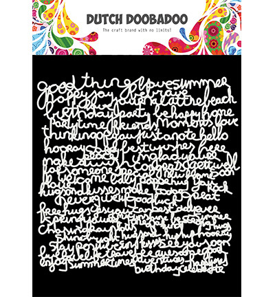 Dutch Doobadoo Text -sapluuna