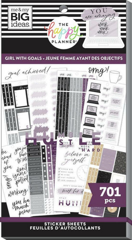 Mambi Happy Planner Value Pack -tarrapakkaus Girl With Goals