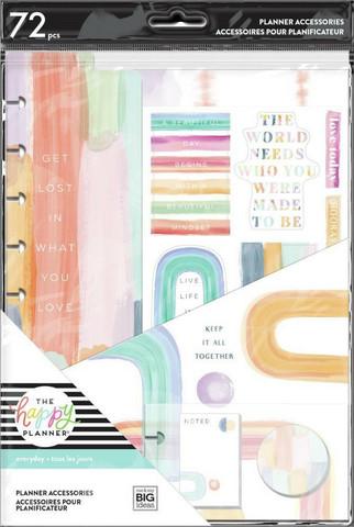 Mambi Happy Planner Classic Accessories -pakkaus, Painterly Pastels