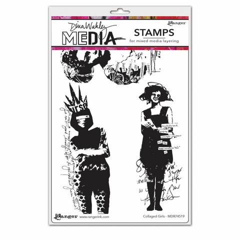 Dina Wakley Media leimasinsetti Collaged Girls
