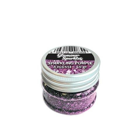 Stamperia Glamour Sparkles -murska, sävy Sparkling Purple